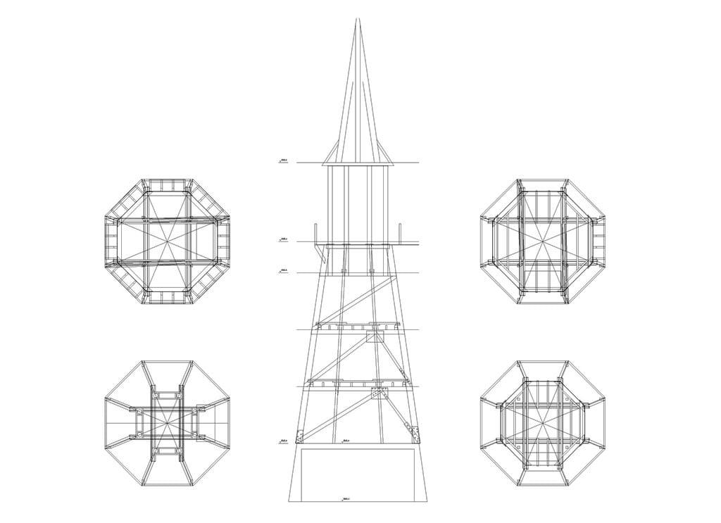 Grundriss-und-Schnitte-Turm-Moyland-Model