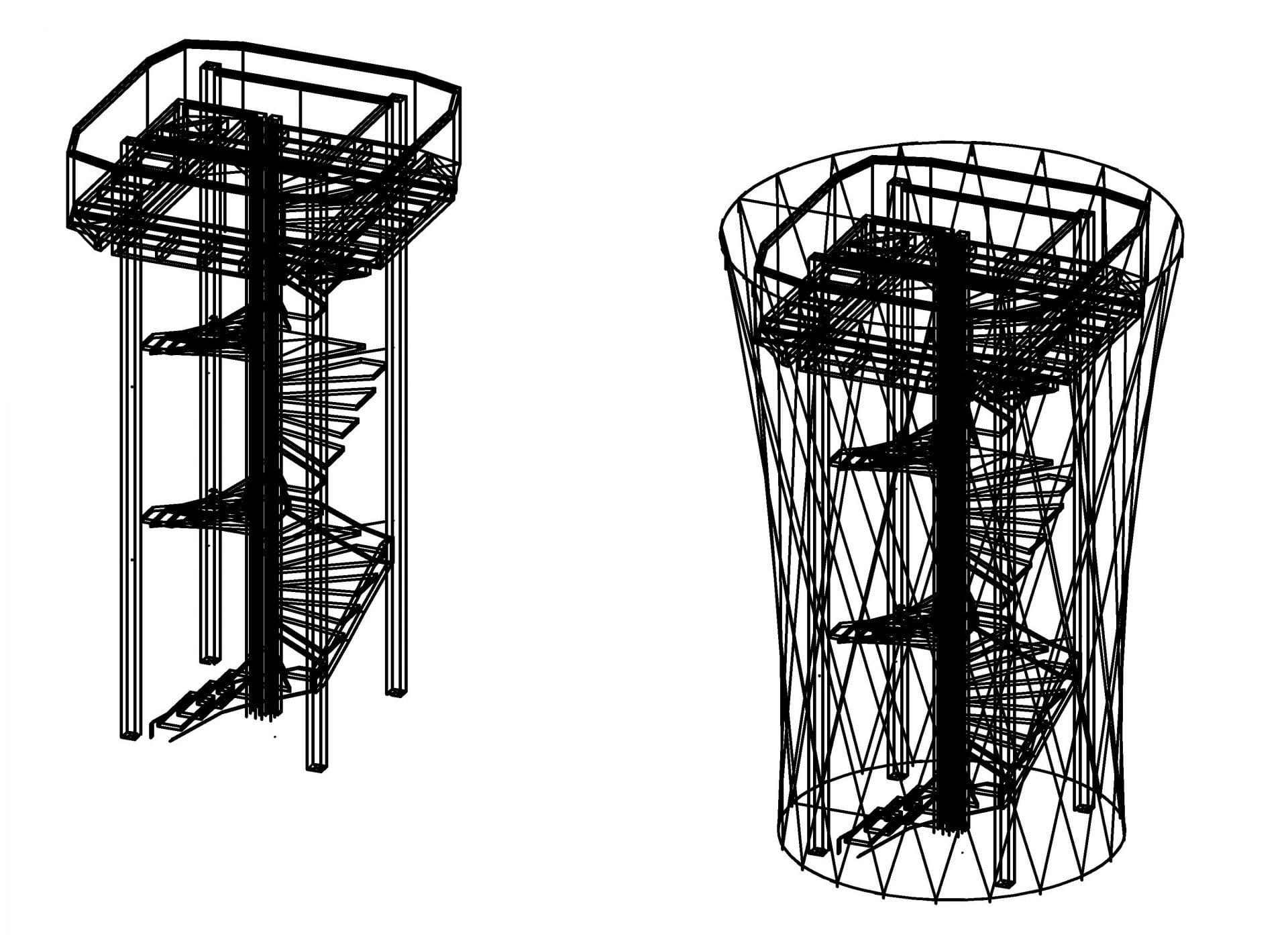 zeichnung-turm-entwurf-1_treppe-3ddwg-Model1